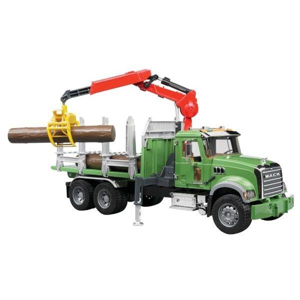 Mack Granite faszállító játék teherautó,  Bruder