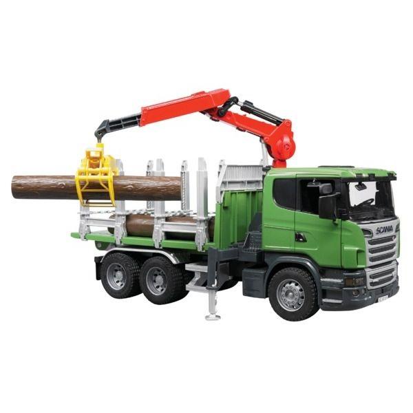 Scania R rönkszállító játék teherautó,  Bruder