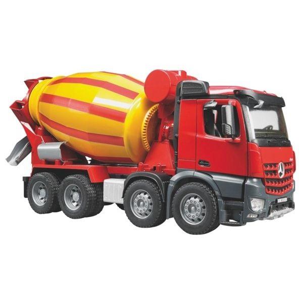 MB Arocs játék betonkeverő teherautó,  Bruder