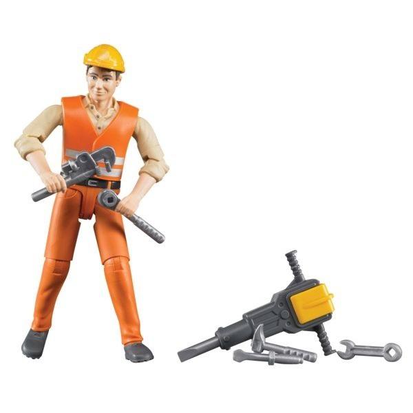 Játék építőmunkás tartozékokkal, Bruder
