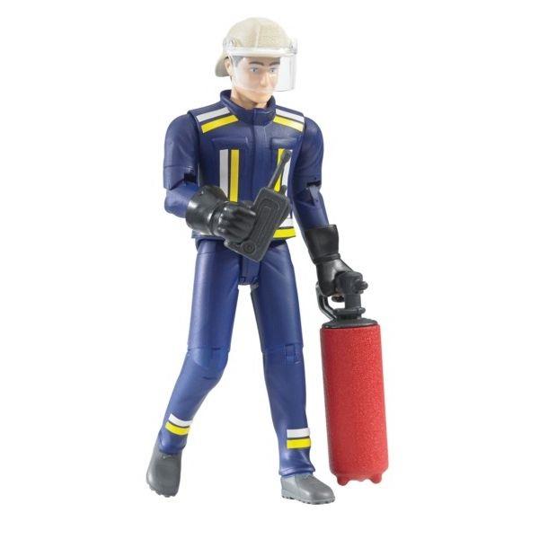 Játék tűzoltó férfi figura tartozékkal,  Bruder
