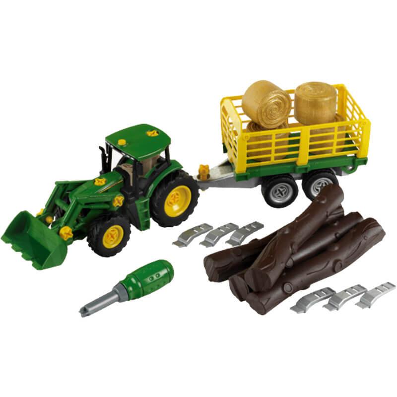 Klein Traktor rönk- és bálaszállító kocsival