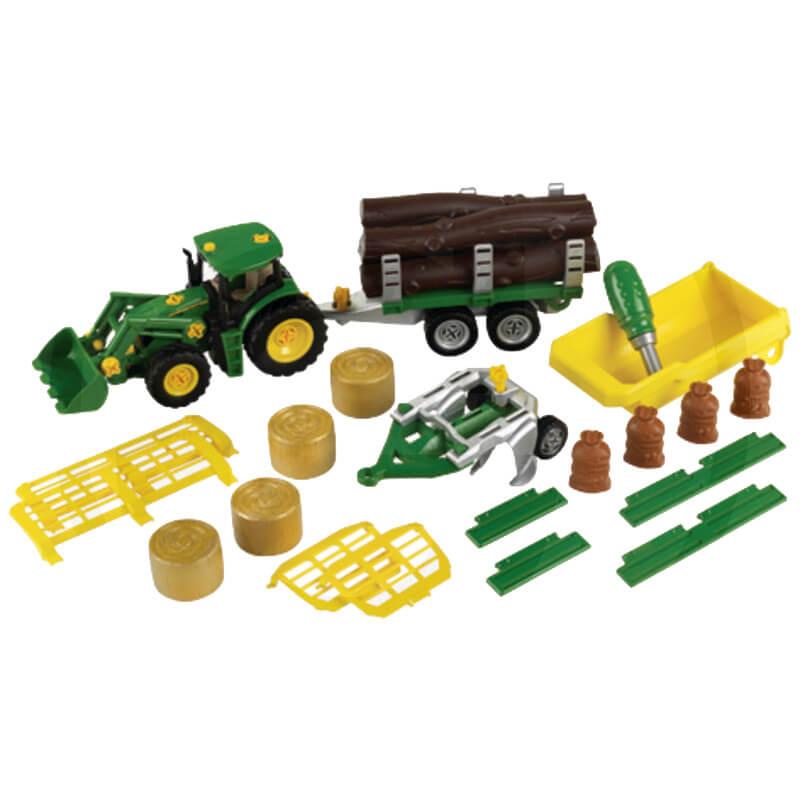Klein Traktor 5 pótkocsival, 5 különböző variációban átépíthető