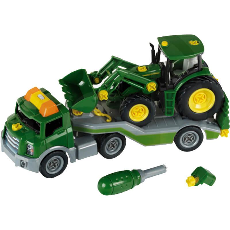Klein Nehézgépszállító John Deer traktorral
