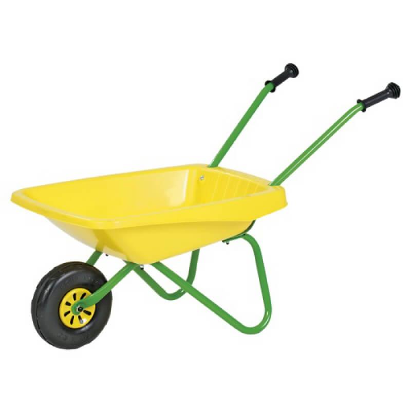 Játék talicska zöld/sárga színben, Rolly Toys