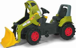 Claas Axion 640 pedálos traktor homlokrakodóval, Rolly Toys