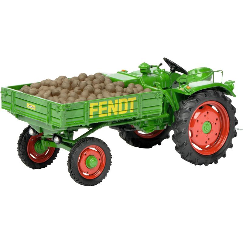 Schuco Fendt eszközszállító GT traktor makett