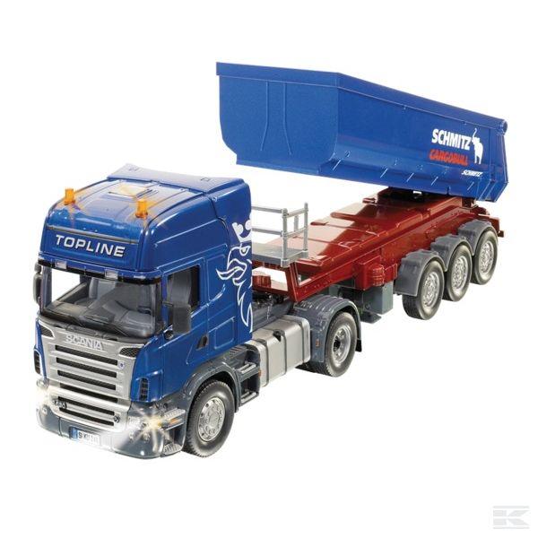Siku Scania Satz nyerges pótkocsival