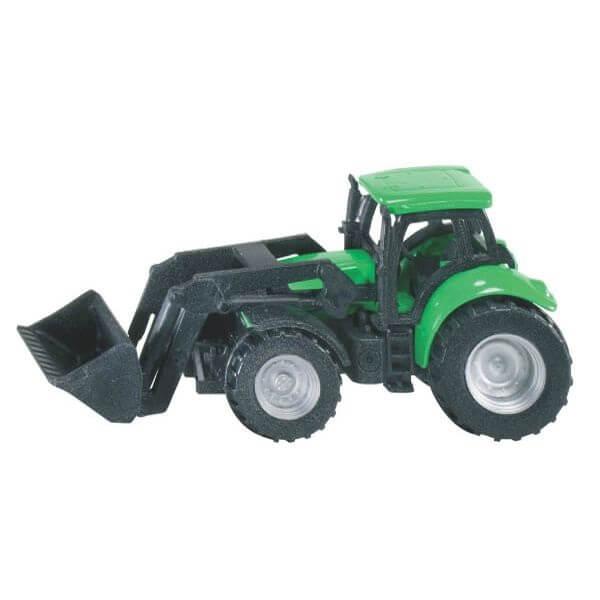Deutz játék traktor homlokrakodóval, Siku
