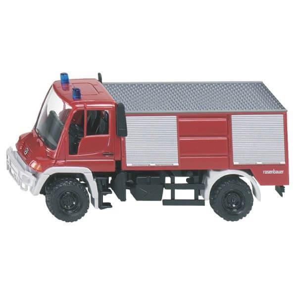 Unimog játék tűzoltó autó, Siku