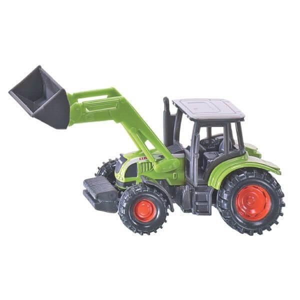 Claas Ares játék traktor homlokrakodóval, Siku
