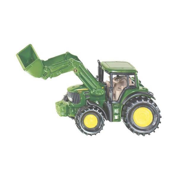 John Deere játék traktor homlokrakodóval, Siku