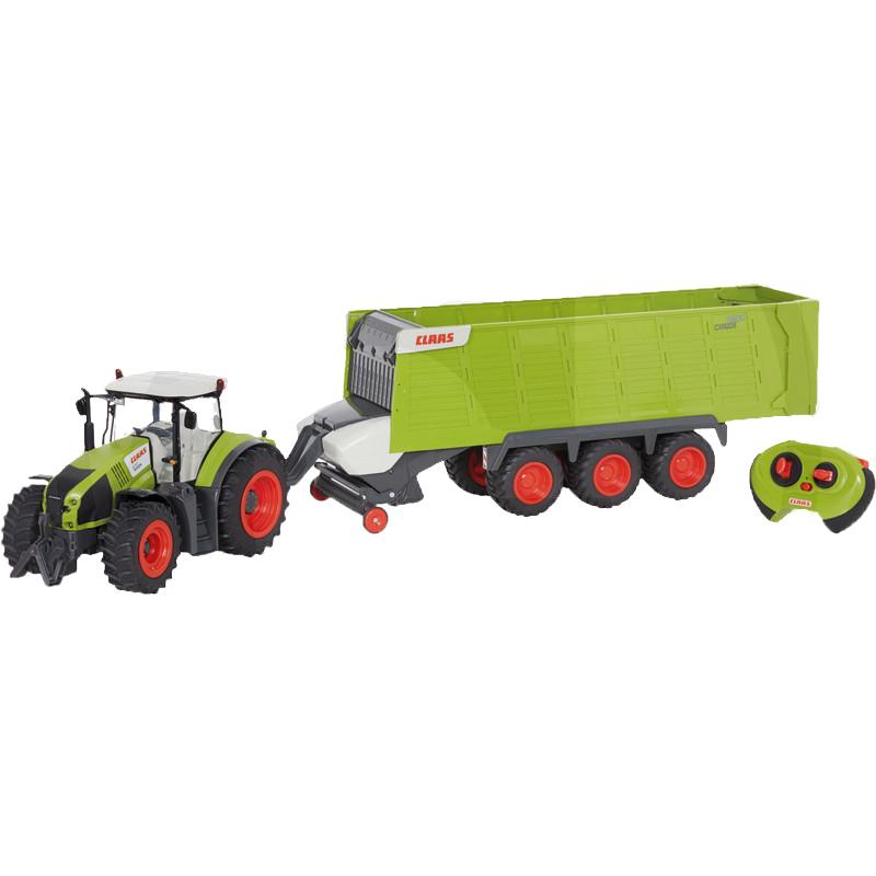 Claaas Axion 870 távirányítós traktor utánfutóval