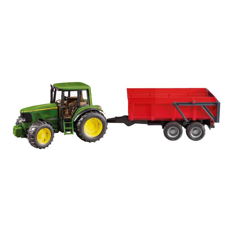 John deere 6920 traktor piros utanfutoval