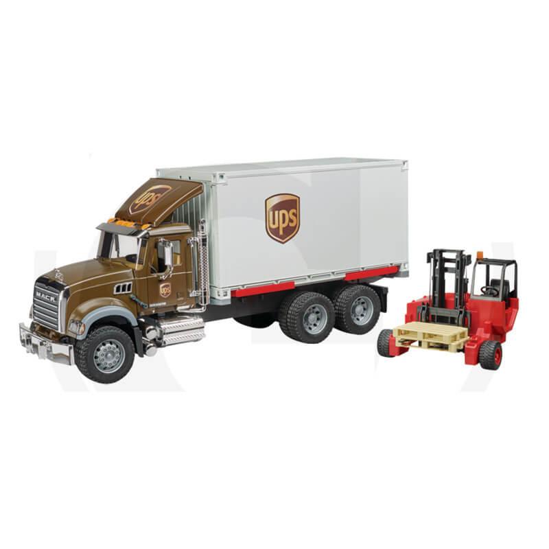 Bruder UPS Mack teherautó - villástargoncával
