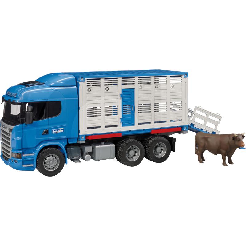 Scania állatszállító teherautó szarvasmarhával