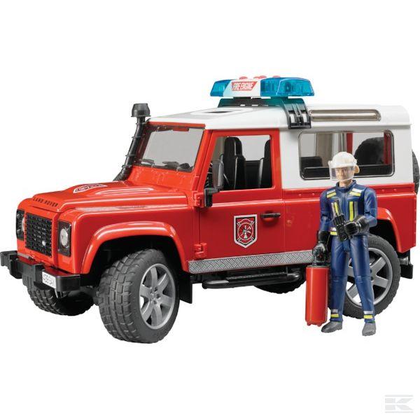 Land Rover Defender tűzoltóautó tűzoltóval