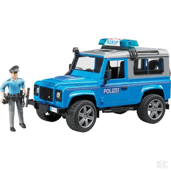 Land Rover Defender rendőrautó rendőrrel