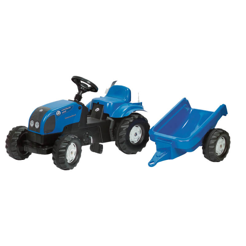 Rolly Toys Landini Powerfarm 100 Pedálos traktor utánfutóval